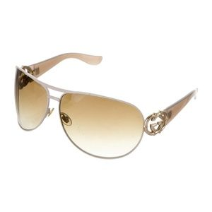 GUCCI GOLD EMBLEMS AVIATORS